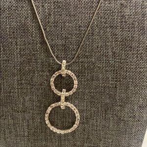 Sterling silver CZ stone necklace